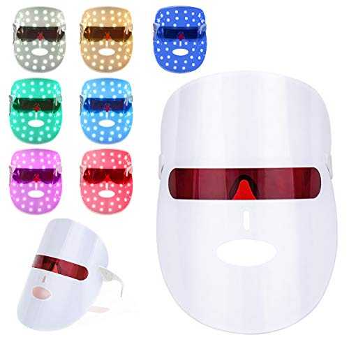 7 Couleur LED Photon Masque,acné Masque de...