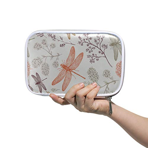 Cosméticos bolsa de viaje de dibujos animados alas lindas mariposa libélula bolsa de cosméticos bolsa de maquillaje de mujer bolsa de maquillaje multifuncional bolsa de maquillaje Xs para hombres muj