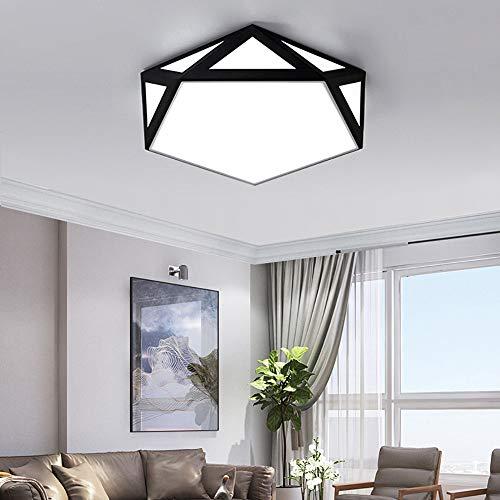 LED Moderne Kronleuchter Lichter Decke, kreative Geometrie Flush Deckenleuchte einfache Art und Weise Wohnzimmer Esszimmer Schlafzimmer Flur-Decken-Lampe, Spot-Leuchten für Decken,Schwarz,XXXL