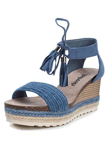 Refresh – Sandalen für Damen – Sandalen mit Schnallenverschluss, Blau - Jeans - Größe: 41 EU