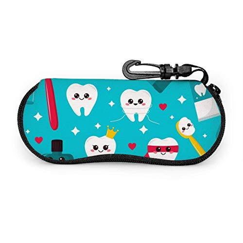 Arvolas Kawaii dibujos animados pasta de dientes herramientas de cepillo de dientes estuche para anteojos portátil estuche protector para gafas resistentes a la abrasión