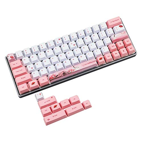 cherrypop 5 Side Dye Subbed PBT Keycap 72 Teclas Mecánicas Gaming Teclado Teclas Soporte MX Interruptores DZ60 GK64 para PC Escritorio