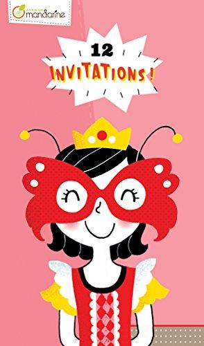 Avenue Mandarine CO144O Einladungskarten, 12 Karten, 17 x 10 cm, 1 Pack, Prinzessin