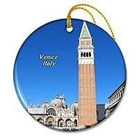 イタリアサンマルコ広場大聖堂ヴェネツィアクリスマスオーナメントセラミックシート旅行お土産ギフト