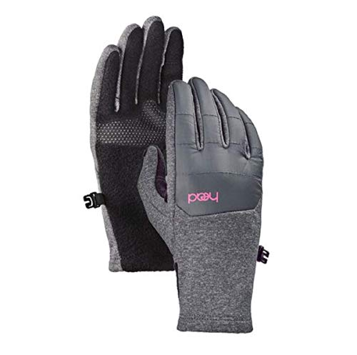 Junior Hybrid Gloves & Mittens Gray Medium, Ages, Grey/Pink, Size Medium (6-10)