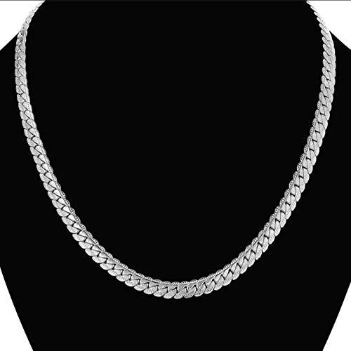 Collar de cadena de serpiente de acero inoxidable para hombre, estilo hip hop, cadena de eslabones de 7 mm para mujer