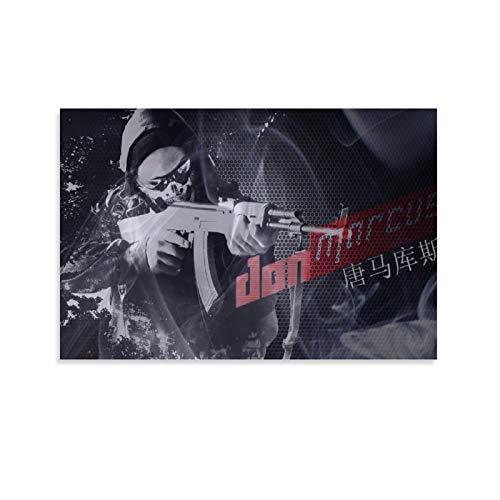 DRAGON VINES CSGO Counter-Strike Global Offensive - Póster de armas en T e impresiones sobre lienzo para decorar la pared en casa (60 x 90 cm)