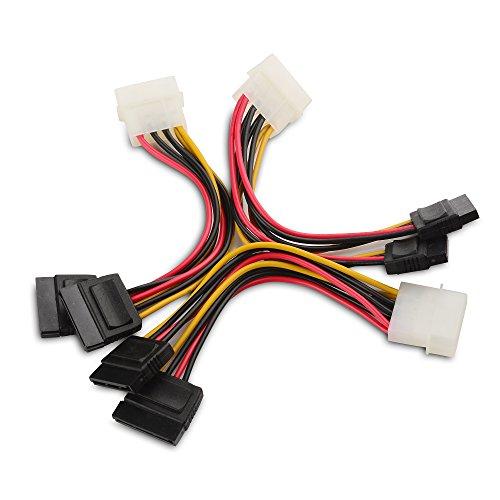 Cable Matters Câble Adaptateur en Y Molex vers SATA d'alimentation Double à 4 Broches de Ensemble 3 Pièces - 1,8m