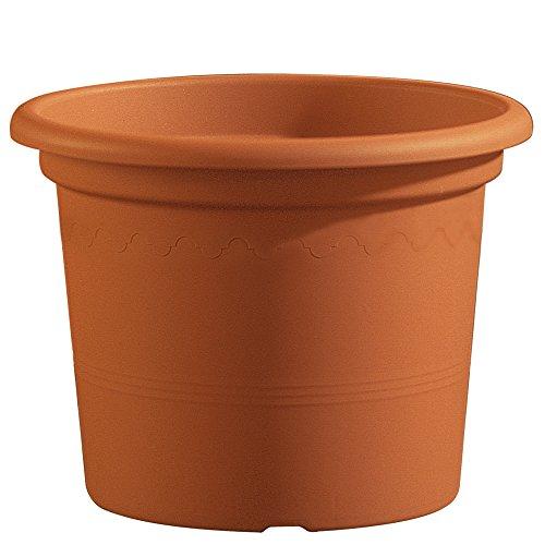 Lhicum Geo Pot à plantes en plastique Rond 25cm x 19.5cm Terre cuite