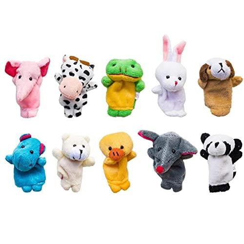 Liadance Las Marionetas de Dedo Conjunto Animales del Estilo Suave Lindo Animales de Peluche bebé Tiempo de Cuentos para niños Muestran la Escuela Tiempo de Juego 10pcs / Set