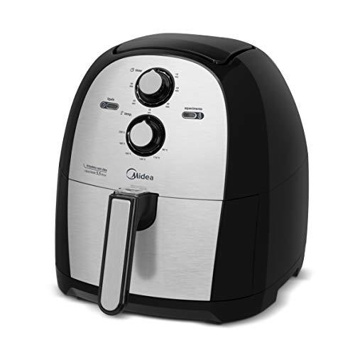 Fritadeira Air Fryer Sem Óleo Midea, 5,5 litros, 110 Volts, Family Prata/Inox