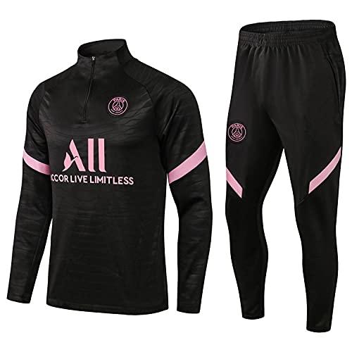 HMMHHE Camisa de fútbol de París Camisa de Manga Larga + Pantalones de fútbol Jersey Traje Traje de Entrenamiento Traje Equipo Traje de Competencia (Size : XXL)