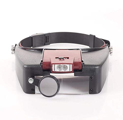 Y&MoD Kopfband-lupe Mit Led-licht, Head-mounted-leselupe, Juwelier, Uhr Lupe, 10-fache Vergrößerung A/A