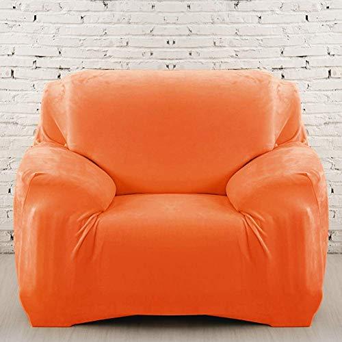 Jonist Funda de sofá de Felpa Gruesa, Todo Incluido Funda de sofá Suave Antideslizante Abrigo Apretado Funda de sofá Duradera Protector de Muebles de fácil Ajuste-Naranja Tres Asientos
