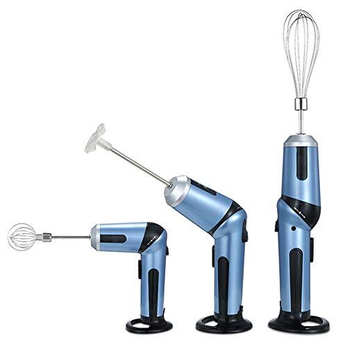 Fouet électrique Patisserie, Batteur Electrique, Batterie au Lithium sans Fil Super Légère Batteur à Oeufs Multi-angle à Main Mélangeur Arbre de Robot Culinaire Support de Fouet Multiple