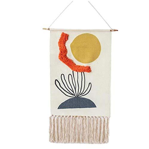Hiinice Colgando Tapiz borlas de algodón Macrame Wall impresión Tejida Telón de Fondo de Arte para el Dormitorio de la Sala de Navidad Decoración 1008
