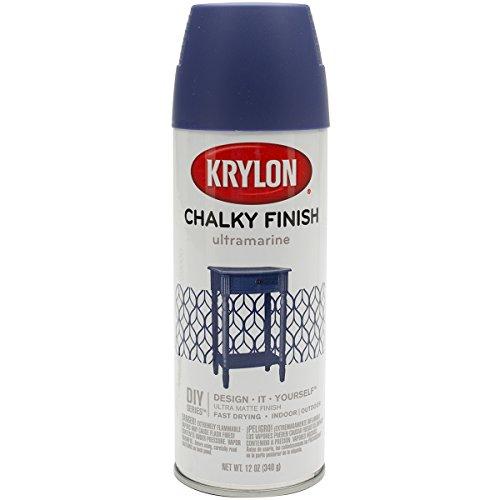 Krylon K04109000 Chalky Finish Spray Paint, Ultramarine, 12 Ounce