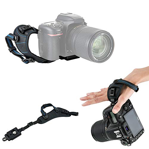JJC Deluxe DSLR Camera Hand Strap with Quick Release Plate for Canon EOS 90D 80D 70D 77D 60D 6D Mark II 7D Mark II 5D Mark IV III 5Ds R 1Dx Mark II EOS Rebel T8i T7i T6i T5i T7 T6 SL3 SL2 & More DSLR -  4351730105