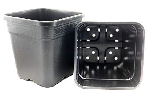 GIB Pot de fleurs carré, noir, 14 l