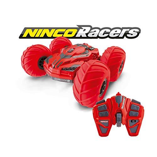 Ninco Racers-Aquabound Coche Teledirigido Anfibio y Reversible, Condúcelo por Tierra, Agua y Nieve, Color rojo, 6 años (NH93133)
