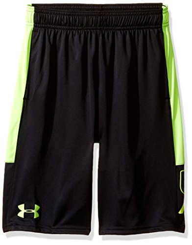 Under Armour Jungen Instinct Shorts, Jungen, Black (003)/Fuel Green, Jugend Small