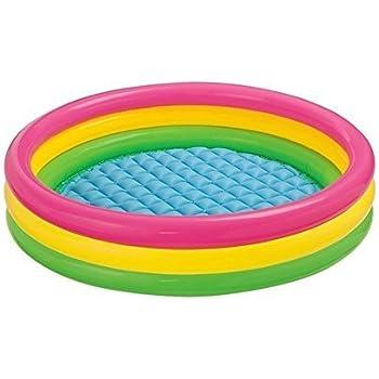 Tingoking Inflatable Water Pool 3 Ft Diameter for Kids for Fun Activities - Multi Color