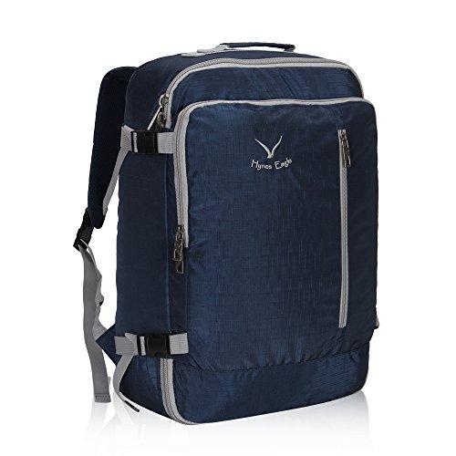 Veevan Sac à Dos Voyage Sac pour Ordinateur Portable 15.6 Bagage à Main 38L (Bleu Foncé)