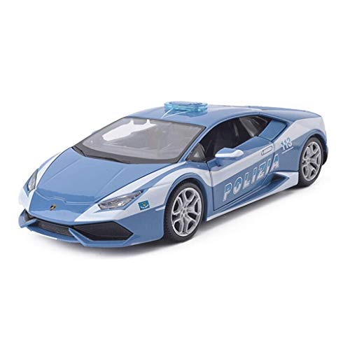 KaKaDz Metal Car Toy 1:24 LP610 Sports Car Pull Back Alloy Car Model Car For Boy Regalos Colección