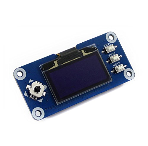 Waveshare Raspberry Pi 128x64 Pixels 1.3inch OLED Display Hat with Embedded Controller,Communicating Via SPI or I2C Interface
