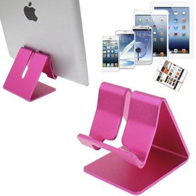 YCDZ STORE Desktop Aluminium Stand Desktop Houder, Voor iPad, iPhone, Galaxy, Huawei, Xiaomi, HTC, Sony, en andere mobiele telefoons of tablets (goud), roze