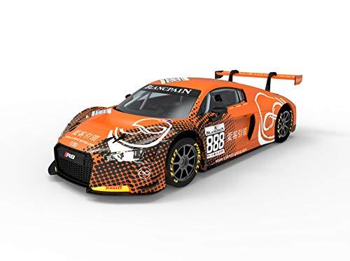 Scalextric-Audi R8 LMS GT3 Motorsport Coche Pista, Color Naranja (Scale Competiton Xtreme 1)