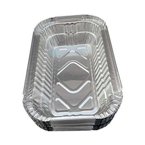 perfk 20 Stück/Set Einweg Aluminiumfoliengrill Auffangwannen Zum Grillen 700ml