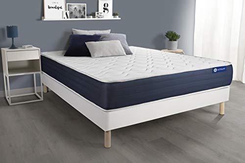 Pack colchón Actiflex Sleep 150x190cm + Somier multiláminas, Muelles ensacados y Espuma viscoelástica, 3 Zonas de Confort