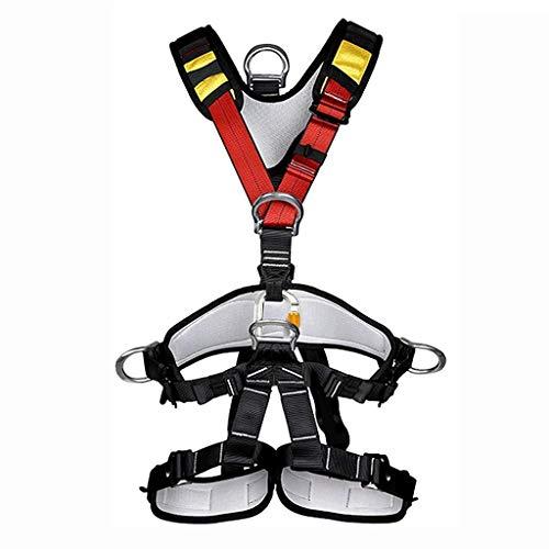 JTSYUXN Vollkörper Auffanggurt Klettergurt Ganzkörper Sicherheitsgurt,Absturzsicherung Gurt Safety,für Kletterhalle und Kletterwand,Bergsteigen Wanderung Bergwanderer,Fallschutz