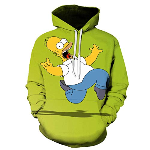 Hombres Mujeres Anime Homer Simpson Y Su Hijo Sudadera Con Capucha Disfraz De Cosplay Sudaderas Calientes Unisex Pullover De Dibujos Animados Primavera Casual Sudadera Con Capucha-Picture_Color2_Xxs