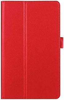حافظة لأجهزة الكمبيوتر اللوحية والكتب الإلكترونية - جراب من الجلد الصناعي من ليتشي لهاتف Sony Xperia Z2 مقاس 10.1 بوصة جرا...