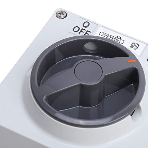 Interruptor de material de PC de encendido y apagado giratorio con orificio de bloqueo de seguridad(4P63A, pink)