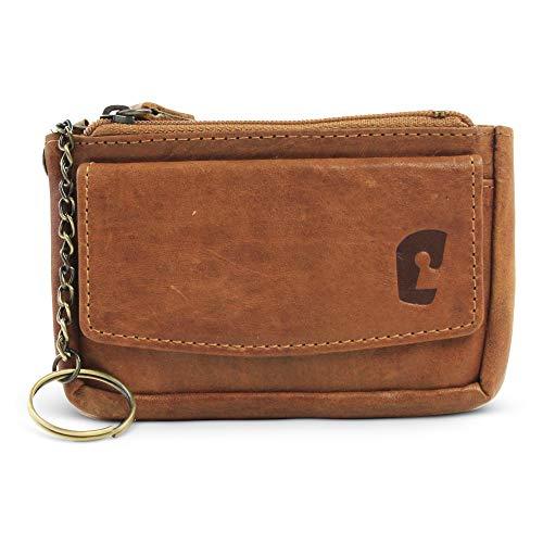 Safekeepers - Cuero bolso de la llave con 2 llaveros – Caja Dominante - Carpeta Cartera – Estuche - Unisex Adulto
