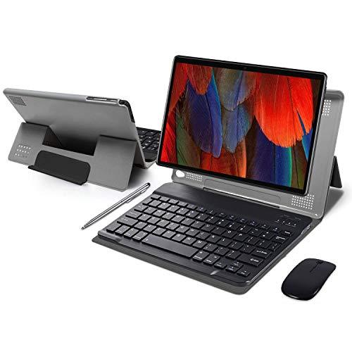Tablet 10 Pulgadas 4GB de RAM 64GB de ROM Android 10 Certificado por Google GMS Tablet PC Baratas y Buenas Batería 8000mAh Quad Core Dual SIM 8MP Cámara Netflix WiFi Type-C Bluetooth GPS OTG(Negro)