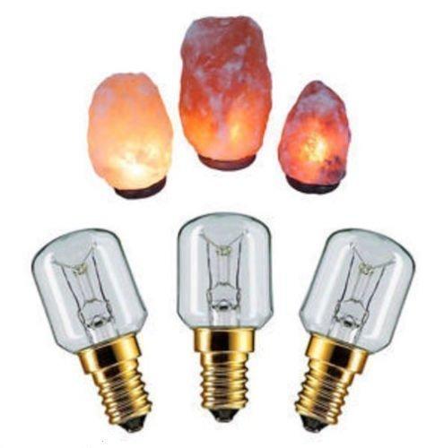 3 x Sel De L'himalaya Ampoule Lampe 15w E14 à Visser Pygmée Ampoules Réfrigérateur Appareil Four