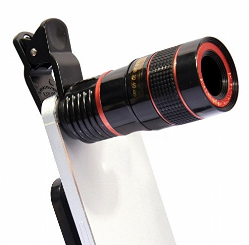 Monokulares Teleskop Mobiles Teleskop Universal 8X Telefoto Hd Ohne Vignetten-Teleskop Kamera,Schwarz