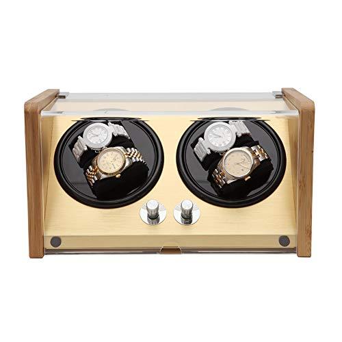 Agitateur de montre automatique, rotateur de montre mécanique, agitateur de montre, rotateur de montre, montre mécanique à quatre positions en bambou et bois ménager, boîte de montre à remontage sim