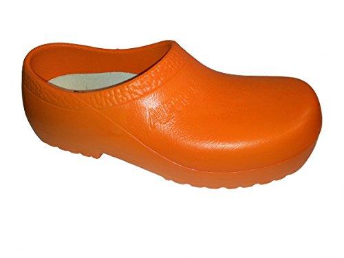 Alpro by Birkenstock PU Gartenclogs orange A630 010600, Größe + Weite:42 normal