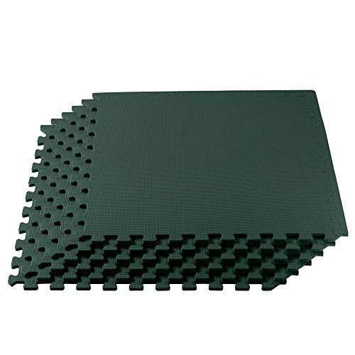 We Sell Mats 3/8 Inch Thick Multipurpose Exercise Floor Mat with EVA Foam, Interlocking Tiles,...