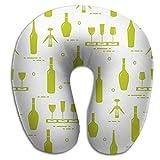 Cuscino a forma di U Cuscino per il collo Modello di aeroplano per auto Bicchieri da vino Bottiglie Cavatappi Senza cuciture Degustazione Sommelier Arcobaleno Affascinante verde PLW-1761