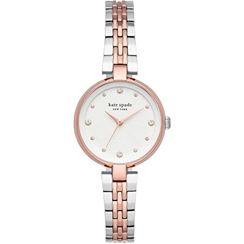 orologio da donna kate spade new york annadale in acciaio bicolore bicolore argento e oro rosa per donna KSW1595