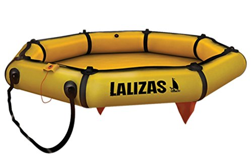 wellenshop Lalizas Rettungsinsel ohne Dach Selbstaufblasend 4 Personen mit Tragetasche Orange Gelb 8,3 kg Rettungsfloß Boot Sicherheitszubehör
