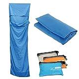 Sjzwt Dormir Multifuncion Envelope Ultraligero al Aire Libre Bolsa de Revestimiento de poliéster Impermeable Plegable 70x210cm (Color : Blue)