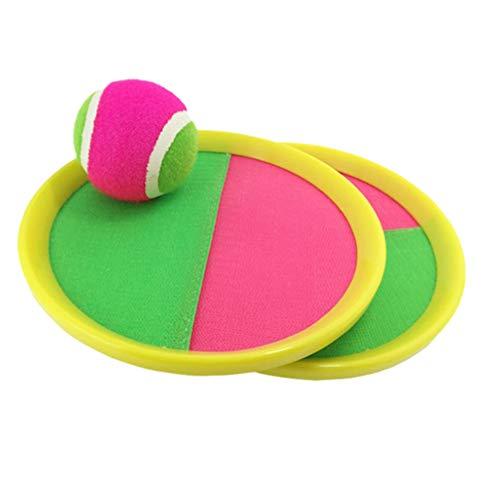 Toyvian Juego clásico de Deportes de Lanzamiento y Captura, Juguetes de Paleta para niños con Pelota de Frijoles