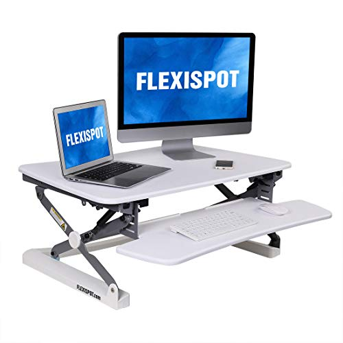 FlexiSpot M2W Standing Desk Riser - 35' Wide Platform Height Adjustable Stand up...